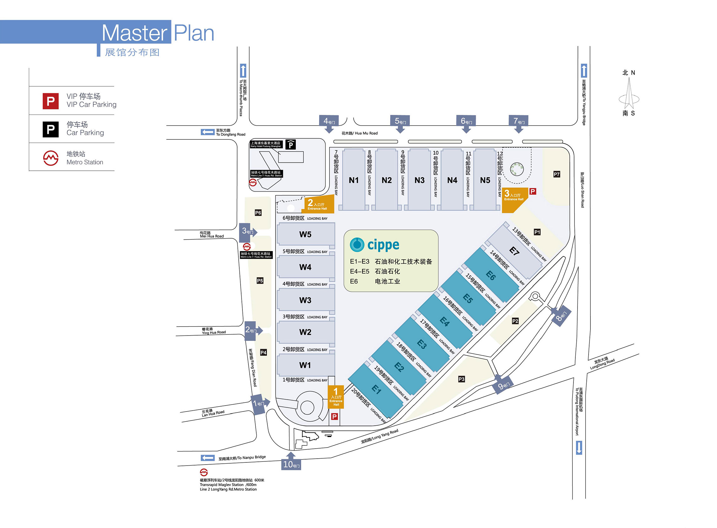 General map of the exhibition hall
